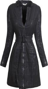 Czarna kurtka Elegrina w stylu casual długa
