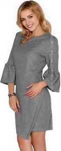 Sukienka MERRIBEL asymetryczna z okrągłym dekoltem mini