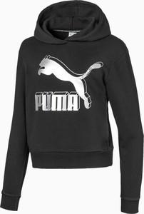 Czarna bluza dziecięca Puma z tkaniny