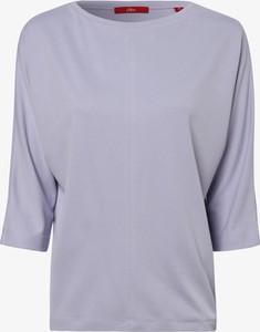 Fioletowy t-shirt S.Oliver z długim rękawem