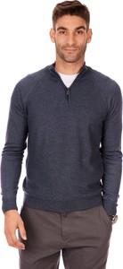 Sweter Lanieri Fashion ze stójką z dzianiny