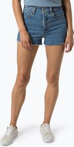Niebieskie szorty Levis w street stylu z jeansu