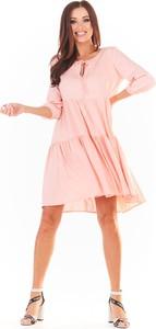 Sukienka Awama z długim rękawem w stylu boho