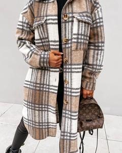Brązowy płaszcz Kendallme w stylu casual