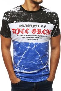 T-shirt Dstreet z tkaniny z krótkim rękawem z nadrukiem