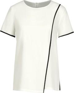 Bluzka DKNY z okrągłym dekoltem w stylu casual