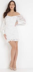 Sukienka born2be hiszpanka mini dopasowana