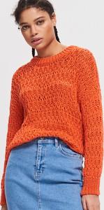 Pomarańczowa spódnica Reserved z jeansu midi