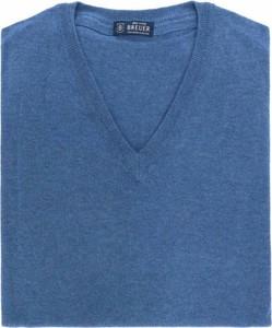 Niebieski sweter Breuer z dżerseju