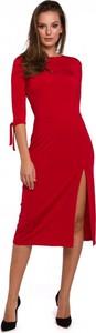Sukienka Makover z okrągłym dekoltem