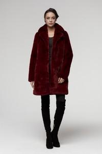 Czerwony płaszcz Smoke Furs w stylu casual z dzianiny