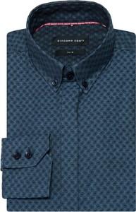 Granatowa koszula giacomo conti z długim rękawem