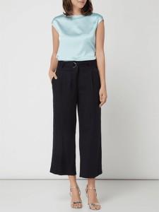 Turkusowa bluzka comma, z okrągłym dekoltem w stylu casual
