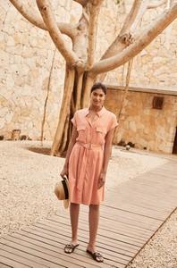 Sukienka ORSAY mini z dekoltem w kształcie litery v z tkaniny
