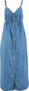 Niebieska sukienka bonprix John Baner JEANSWEAR szmizjerka w stylu casual