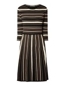 Czarna sukienka Jake*s Collection z okrągłym dekoltem w stylu casual