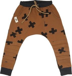 Brązowe spodnie dziecięce CudiKiDS dla chłopców
