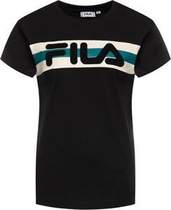 Czarny t-shirt Fila z krótkim rękawem w młodzieżowym stylu