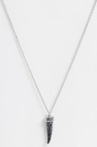 Icon Brand – Łańcuszek na szyje z zawieszką ze sztucznego kamienia w kształcie kła-Srebrny