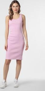 Różowa sukienka Tommy Jeans mini z dżerseju