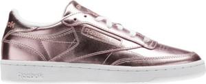 Buty sportowe Reebok z płaską podeszwą ze skóry