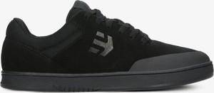 Czarne buty sportowe ETNIES ze skóry sznurowane