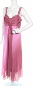 Różowa sukienka M&co. z dekoltem w kształcie litery v maxi