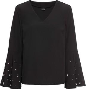 Bluzka bonprix BODYFLIRT z dekoltem w kształcie litery v z długim rękawem