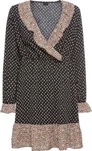 Sukienka bonprix BODYFLIRT z dekoltem w kształcie litery v w stylu casual z długim rękawem