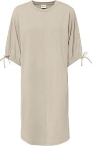 Sukienka bonprix z dżerseju z długim rękawem z okrągłym dekoltem