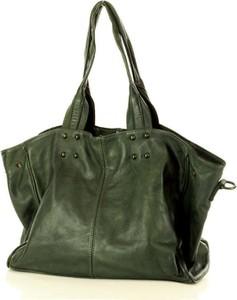 Zielona torebka Marco Mazzini Handmade duża w wakacyjnym stylu na ramię