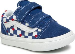 Niebieskie trampki dziecięce Vans na rzepy