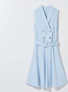 Niebieska sukienka Mohito bez rękawów