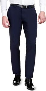 Granatowe spodnie giacomo conti z bawełny