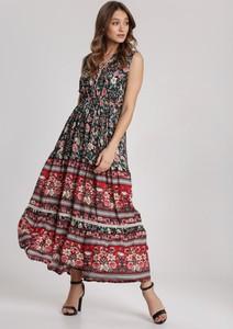 Sukienka Renee z dekoltem w kształcie litery v rozkloszowana w stylu boho