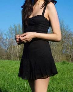 Czarna sukienka Kendallme mini na ramiączkach prosta