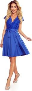 Sukienka NUMOCO rozkloszowana z krótkim rękawem mini