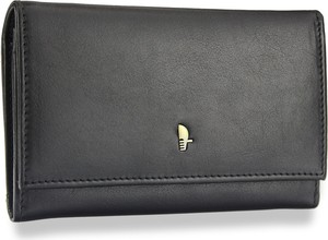 Czarny portfel PUCCINI ze skóry