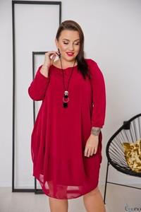 Czerwona sukienka tono.sklep.pl z długim rękawem