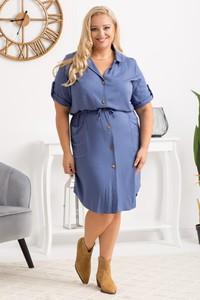 Sukienka KARKO szmizjerka z tkaniny