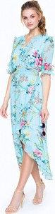 Niebieska sukienka L'AF z szyfonu