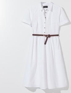 Sukienka Mohito z krótkim rękawem w stylu casual z kołnierzykiem