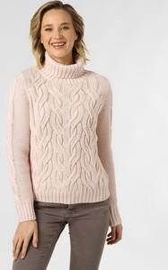 Różowy sweter Marie Lund z dzianiny w stylu casual