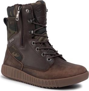 Brązowe buty zimowe Pajar