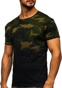 T-shirt Denley w militarnym stylu z bawełny