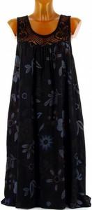 Czarna sukienka Cikelly na ramiączkach z okrągłym dekoltem