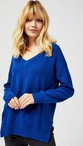 Niebieski sweter Moodo w stylu casual