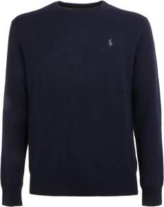 Niebieska koszulka z długim rękawem POLO RALPH LAUREN w stylu casual