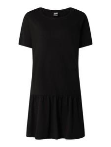 Czarna sukienka Urban Classics z bawełny koszulowa z okrągłym dekoltem