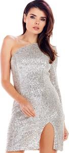 Srebrna sukienka Awama mini